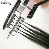 Isheeny 40-50cm 6D Second Generation Extensions 10pcs set Invisible Micro Link 100% Natural Human Hair 50 strands