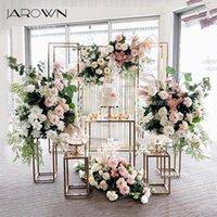 웨딩 디저트 테이블 장식 소품 사각형 기둥 파티 중심 장식 기하학적 꽃 스탠드 케이크