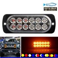 12 LED 36W 6500K 라이트 바 자동차 트럭 위험 비콘 경고 램프 그릴 고장 DC12V LED 램프 액세서리