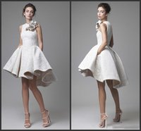2021 White Lace Short Cocktail Dresses Juniors Evening Wear Elegant Cheap Hi Low Party Prom Dresses