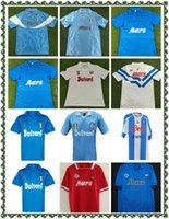 1988/1989 Retro Napoli Away Soccer Jerseys 86/87 88/89 Away Away Red Maradona Careca Retro Soccer Hemd Kurzarm Fußballuniform Verkauf