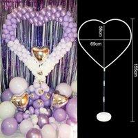 155 cm coração em forma de balão carrinho diy balões arco coluna de plástico base de balão de látex para decoração de festa de aniversário de casamento 210610