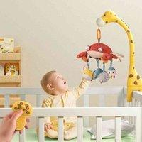 Tumama Hayvan İtme Bebek Yatağı Çıngırak Müzikal Mobil Oyuncak Askı Yumuşak Yengeç Asılı Plastik Çot Zürafa Keçe Beşik Mobil Oyuncaklar