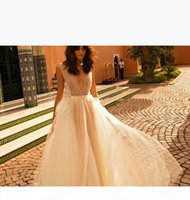 Robes de mariée Bohemian Simple Broderied Deep Bohemian 2019 New Liz Martinez Chapelle Bridal Train Robes de mariée 106