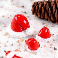 Noel Şapka Bahçe Süslemeleri Minyatür Peri Bahçe Aksesuar Dekorasyon Dollhouse Moss Teraryum Süsler BWB7329
