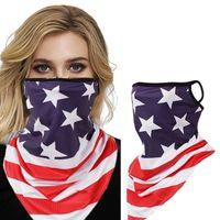 Neue wiederverwendbare Gesichtsmaske stilvolle amerikanische Flagge im Freien Radfahren staubdicht atmungsaktiv waschbarer Fahrradschal