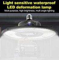 Lampes de garage pliantes déformables déformables de haute baie super lumineuse éclairage E27 LED 60W 80W 100W Lampe industrielle pour l'entrepôt