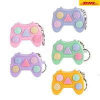 Fidget Toys Popit Mini Handle Game Keychain Memory Games For Kids Adults Handle Memory Training Maze Cube Gadget HHA5243