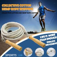 Jump Ropes Cotton Skipping 3 5m Group Rope Wooden Handle For Training Games Fitness Equipments