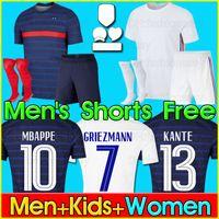 soccer jersey 2020 2021 football shirt camisa de futebol 100º aniversário de 100 anos Futebol da equipe da Copa do Mundo Griezmann Mbappé Kit homens + crianças