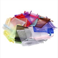 5 * 7 cm Piccoli ornamenti Borsa da imballaggio Filato Colorful Mesh Borse Borse regalo Bundle Pocket Pocket Organza Garza Art Accessori Art