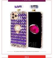 Cute Diamond Sparkle Ring Stand Holder Perfume Cases For LG K51 Stylo 6 5 4 MOTO G stylus Women Bing Rhinestone Aristo5 K31 K40 iPhone 13 Pro Max Phone Cover