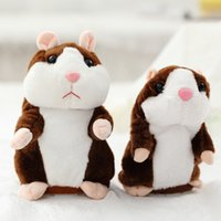 TJ 15cm Talking Hamster Mouse Pet Plush Toy PP Cotton Cute Soft Animal Doll Speak Imitate Sound Recorder Repeat Hamsters Funny Learn Tongue Electric Toys Kids Gifts