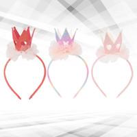 3 pcs Crown Hair Clipes Delicate Pearl Headdress Meninas Mesh Bow Barrettes Acessórios Bobby Pin Kids (Vermelho