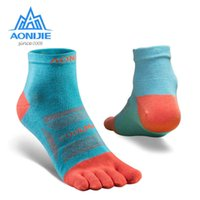 AONIJIE 3Pairs Set Breathable Five Toe Socks Ultralight Low Cut Athletic Quarter Socks For Outdoor Sports Trail Running Cycling 210727