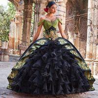 Charro Mexican Style Vestidos de Fiesta Quinceanera Prom Dresses 2021 Off Spalla Party Sweet 15 Abito ANOS Bridal Boutique