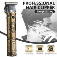 Hair Scissors Professional Clipper Rechargeable Retro Oil Head Barber Men Trimmer 0mm T-blade Cutting Machine TSLM1