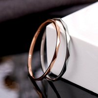 Titanium femmina V-Ring Gold Gold Semplice Indice Indice Acciaio inox Creativo Coda Coda Coda ANELLO TENDUTO Q97S