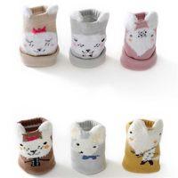 3 paires / beaucoup de chaussettes de bébé unisexe pour bébé nouveau-né enfants nourrissons hiver long jambe chauffe-jambes de dessin animé animal motif garçon fille chaussettes 376 k2