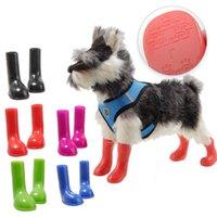 2020 new fashion casual pet rain shoes waterproof, high elastic and antiskid