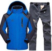 Skiing Jackets Ski Suit Men Snow Set Outdoor Thermal Waterproof Windproof Snowboard And Pants Camping Hiking Set1