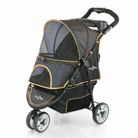 Four Seasons Universal Pet Stroller Foldable Outdoor Dog Walking Cart Fashion Leopard Print Three-wheeled Cat And Car Seat Covers
