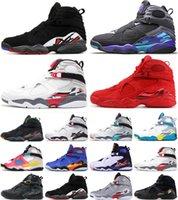 2021 Jumpman Basketball Shoes DoernBecher 8 8s Vit Svart Satin Män Alla hjärtans dag Chrome Mens Trainer Sneakers 40-47