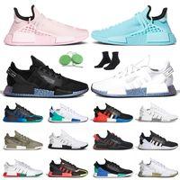 pharell williams adidas human race nmd r1 v2 الأسود والأبيض نوعية جديدة R1 V2 2020 فاريل ويليامز الإنسان سباق تنس أحذية رياضة الجري نوبل الحبر رجل المرأة الاحذية في الهواء الطلق
