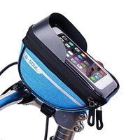 Colorful 6.5 Inch Case Cell Mobile bag Head Tube Phone Holder Smart Electric Mountain Bike Bicycle Handlebar Bags