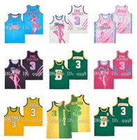Pink Panther 3 Miami Basketball Jersey Allen 3 Iverson Bethel High Freitag 23 Basketball Jersey
