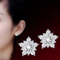 Garanhão jbrl mulheres moda prata senhoras brincos jóias presentes para meninas par fêmeas acessórios de jóias snowflake