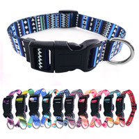 Dog Collars for Small Medium Large Dogs Spring Collar Pattern Geometric Bohemain Safety Buckle Comfort Polyester Nylon Outdoor Walking Running