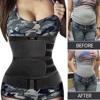 Waist Trainer Reducing Shapers Slimming Trimmer Belt Body Shaper Neoprene Tummy Shapewear 9 Steel Bones Woman Cincher Corset 210603