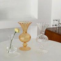 Vases Nordic Decorative Vase Transparent Flower Hydroponic Plant Holder Creative Bottle Container Home Decoration