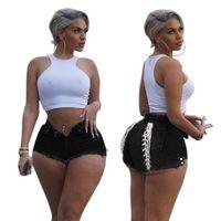 AOMEI 2021 Plus Size Bandage Sexy Style Lady Damen Denim Jean Shorts