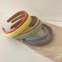 2021 Women Elegant Plaid Print Striped Floral Hairbands Sweet Headband Hair Bundle Lady Hair Hoops Fashion Accessories