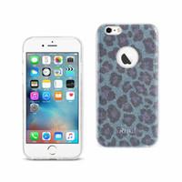 Reiko iPhone 6 / 6s brillant scintillant scintillant léopard étui hybride en argent / bleu / vert / or