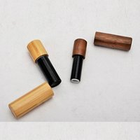 Storage Bottles & Jars ECO-friendly Lip Containers 5ml Black Gold Silver Bamboo Lipstick Tube Wholesale Empty Lot
