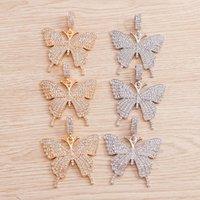 Charms 2pcs 48 * 56mm Grande farfalla di cristallo per le donne Braccialetto Collana Pendenti fai da te Pendenti fatti a mano Gioielli Risultati