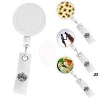Sublimation Blank Nurse Badge Fête Favoris Favoris Carte de travail de bureau de bricolage Suspendante Boucle de sport Favorie HWA8363