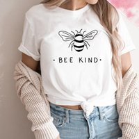 Women's T-Shirt Bee Kind Save The Bees Women T Shirts Cotton Plus Size Streetwear Cute Printed Tshirt Short Sleeve Top Drop
