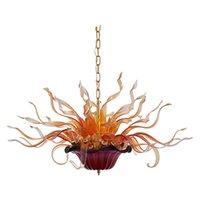 100% Handmade Dmuchany żyrandol Lampa LED Łańcuch LED Wisiorek Światła energooszczędne Dostosowane do wystroju domu