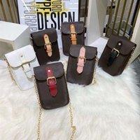Дизайнерские сумки на ремне старый цветок принт женская мода мини-кроджом мобильный телефон сумка с металлической цепью известного бренда классические коричневые кожаные роскошные сумки