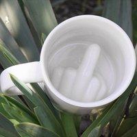 Creatieve Koffie Melk Cup 3D-pret Unieke UP UW MOK PERSOONLIJKHEID Middenvinger Keramische Mokken voor Kerstmis Halloween Verjaardag Home Decor Gifts