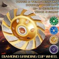 """Accessoires de l'outil Power Power Durable 4 """"100mm Diamant Diamant Discours Disc Bol Forme Tasse Coupe en granit en pierre en pierre en céramique"""