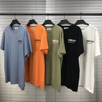 Ambush T Shirt Erkekler Kadınlar 11 Yüksek Kaliteli Turuncu Yansıtıcı High Street Pusu T-Shirt Top Tees