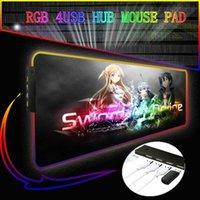 Fare Pedleri Bileklik GENESHIN ETKİNLİK SANATI ONLINMISI ANIME RGB 4 PORT USB HUB PAD GAMER Bilgisayar Mousepad Aydınlatmalı Mause XXL Danışma Klavye
