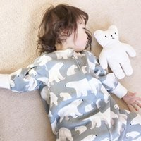 Sleeping Bags Four-layer Long-sleeved Bamboo Cotton Split-leg Bag For Infants Toddlers Wearable Blanket Envelope Girls Boys Clothes