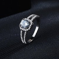 Wedding Rings Fashion Crystal Engagement Design For Women Zircon Cubic Elegant Female Jewelry