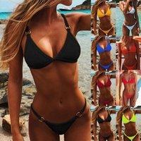 One-Piece Suits Women Bandeau Bandage Bikini Set Push-up Brazilian Swimwear Beachwear Swimsuit Summer Fashion